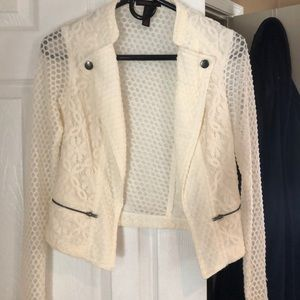 Sheer cream colored jacket